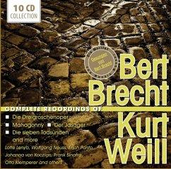 Bert Brecht/Kurt Weill-Complete Recordings - Lenya,Lotte/Ponto,Erich/Sinatra,Frank/+