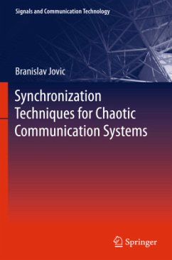 Synchronization Techniques for Chaotic Communication Systems - Jovic, Branislav