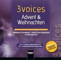 Cd Weihnachten.3 Voices Advent Weihnachten Doppel Cd