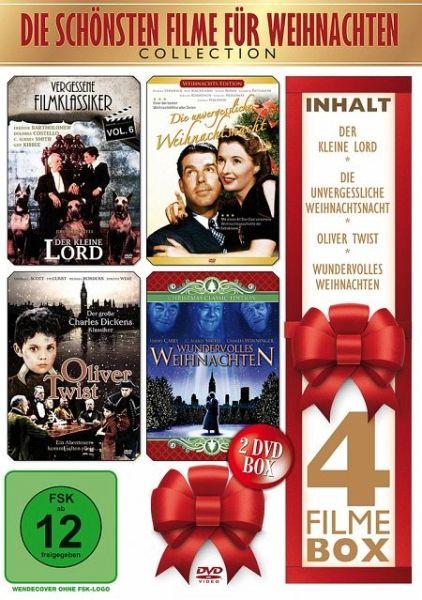 die sch nsten filme f r weihnachten 2 discs film auf. Black Bedroom Furniture Sets. Home Design Ideas