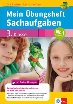 Mein Übungsheft Sachaufgaben mit Online-Übungen 3. Klasse