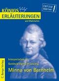 Minna von Barnhelm von Gotthold Ephraim Lessing. Textanalyse und Interpretation. (eBook, PDF)