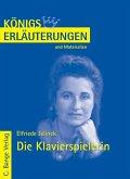 Die Klavierspielerin von Elfriede Jelinek. Textanalyse und Interpretation. (eBook, PDF)