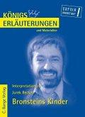 Bronsteins Kinder von Jurek Becker. Textanalyse und Interpretation. (eBook, PDF)