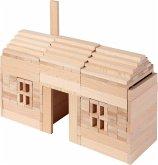 Goki 58563 - Bausteine nature, 200 Stück aus Holz