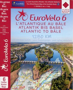 EuroVelo 6 (Atlantic - Basel) 1:100 000 - Huber Kartographie