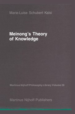 Meinong's Theory of Knowledge - Kalsi, Marie-Luise Schubert