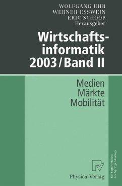 Wirtschaftsinformatik 2003/Band II
