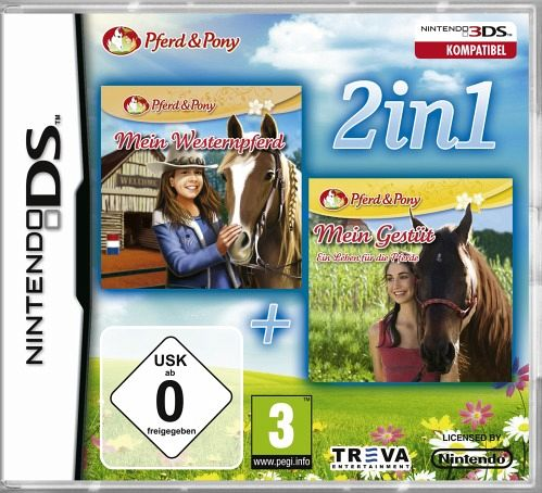 2 in 1 mein westernpferd 3d mein gest t 2 nintendo 3ds spiel b. Black Bedroom Furniture Sets. Home Design Ideas