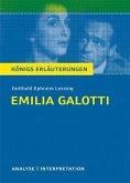 Emilia Galotti von Gotthold Ephraim Lessing. Textanalyse und Interpretation mit ausführlicher Inhaltsangabe und Abituraufgaben mit Lösungen. (eBook, PDF)