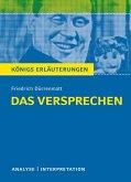 Das Versprechen von Friedrich Dürrenmatt. Textanalyse und Interpretation mit ausführlicher Inhaltsangabe und Abituraufgaben mit Lösungen. (eBook, PDF)