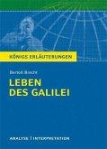 Leben des Galilei von Bertolt Brecht. Textanalyse und Interpretation mit ausführlicher Inhaltsangabe und Abituraufgaben mit Lösungen. (eBook, PDF)