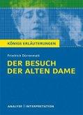 Der Besuch der alten Dame von Friedrich Dürrenmatt. Textanalyse und Interpretation mit ausführlicher Inhaltsangabe und Abituraufgaben mit Lösungen. (eBook, PDF)