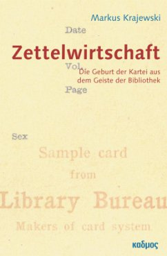 ZettelWirtschaft - Krajewski, Markus