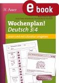 Wochenplan Deutsch 3/4 Lesen/Mit Literatur umgehen (eBook, PDF)