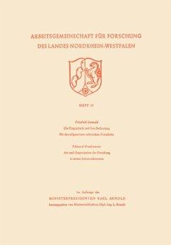 Die Flugtechnik und ihre Bedeutung für den allgemeinen technischen Fortschritt. Art und Organisation der Forschung in einem Industriekonzern - Seewald, Friedrich
