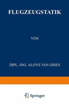 Flugzeugstatik - Gries, Aloys van