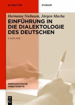 Einführung in die Dialektologie des Deutschen - Niebaum, Hermann; Macha, Jürgen
