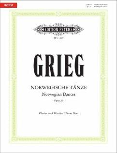 Norwegische Tänze op.35, Klavier 4-händig