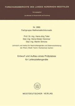Entwurf und Aufbau eines Prüfplatzes für Leiterplattengeräte - Tafel, Hans Jörg