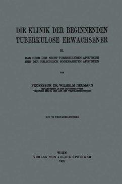 Die Klinik der Beginnenden Tuberkulose Erwachsener