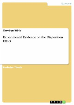 Experimental Evidence on the Disposition Effect (eBook, PDF)