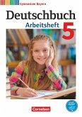Deutschbuch Gymnasium 5. Jahrgangsstufe. Arbeitsheft mit Lösungen. Bayern