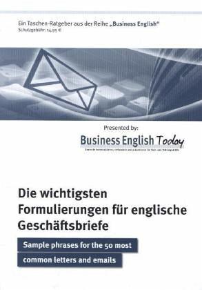 Die Wichtigsten Formulierungen Für Englische Geschäftsbriefe Von