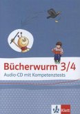 3./4. Schuljahr, Audio-CD mit Kompetenztests / Bücherwurm Lesebuch, Neue Ausgabe