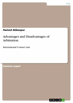 Advantages and Disadvantages of Arbitration (eBook, PDF)
