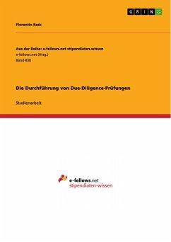 Die Durchführung von Due-Diligence-Prüfungen (eBook, PDF)