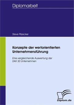 Konzepte der wertorientierten Unternehmensführung (eBook, PDF) - Pilzecker, Steve