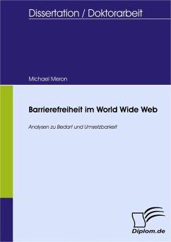 Barrierefreiheit im World Wide Web (eBook, PDF) - Meron, Michael