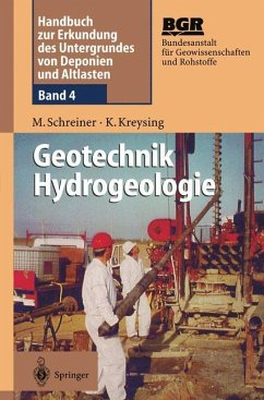 Geotechnik Hydrogeologie - Schreiner, Matthias;Kreysing, Klaus