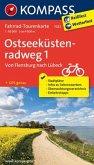 KOMPASS Fahrrad-Tourenkarte Ostseeküstenradweg 1, Von Flensburg nach Lübeck