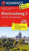 Fahrrad-Tourenkarte Rheinradweg 3, Von Köln nach Rotterdam