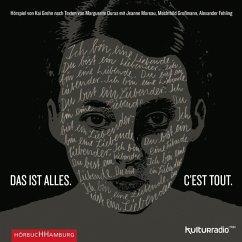 Das ist alles. C'est tout., 1 Audio-CD - Duras, Marguerite