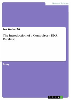 The Introduction of a Compulsory DNA Database (eBook, PDF) - Weller Ba, Lea