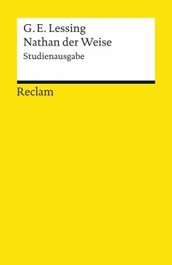 Nathan der Weise (Studienausgabe) (eBook, ePUB) - Lessing, Gotthold Ephraim