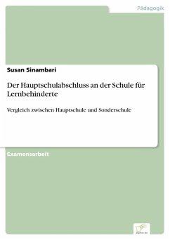 Der Hauptschulabschluss an der Schule für Lernbehinderte (eBook, PDF) - Sinambari, Susan