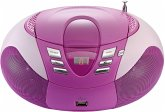 Lenco SCD-37 USB tragbarer CD Player pink