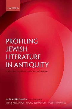 Profiling Jewish Literature in Antiquity (eBook, PDF) - Samely, Alexander