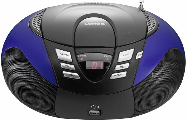 lenco scd 37 usb tragbarer cd player blau. Black Bedroom Furniture Sets. Home Design Ideas