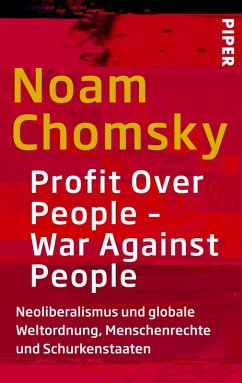 Profit Over People - War Against People (eBook, ePUB) - Chomsky, Noam