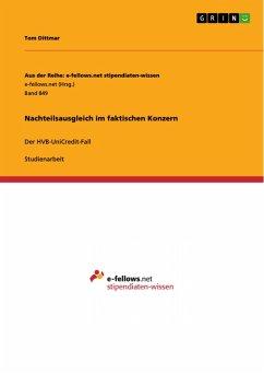 Nachteilsausgleich im faktischen Konzern (eBook, PDF)