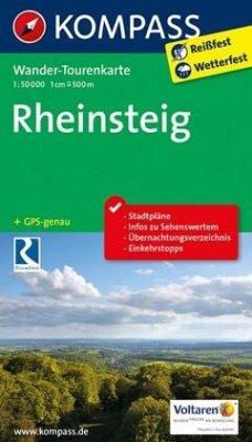 Kompass Wander-Tourenkarte Rheinsteig