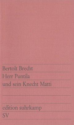 Herr Puntila und sein Knecht Matti (eBook, ePUB) - Brecht, Bertolt