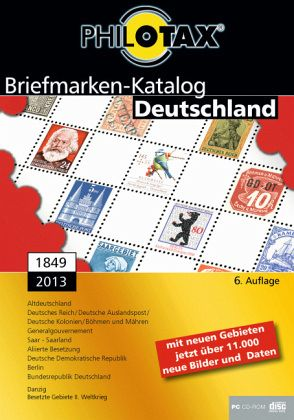 briefmarken katalog deutschland 1849 2013 1 dvd rom. Black Bedroom Furniture Sets. Home Design Ideas