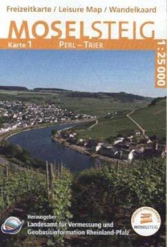 Topographische Karte Rheinland-Pfalz Moselsteig
