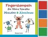 Fingerstempeln für kleine Künstler-Set - Monster und Abenteuer